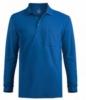 Edwards Unisex Blended Pique Long Sleeve Polo Shirt w/ Pocket