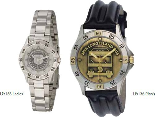 ABelle Promotional Time Defender Medallion Lady's 2 Tone Watch w/ Leather Band