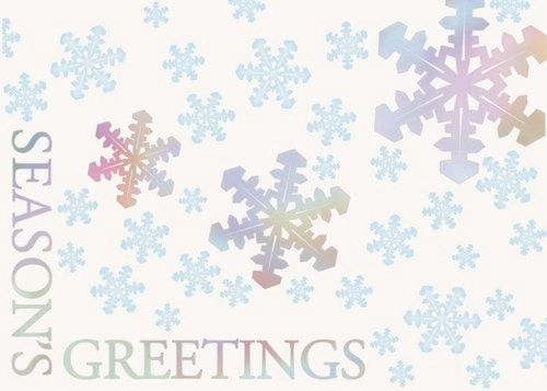 Holographic Foil Snowflakes Holiday Greeting Card (5