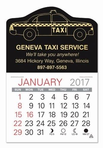 Taxi Standard Pad Value Stick Calendar