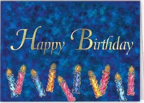 Blue Happy Birthday Candles Everyday Greeting Card (5