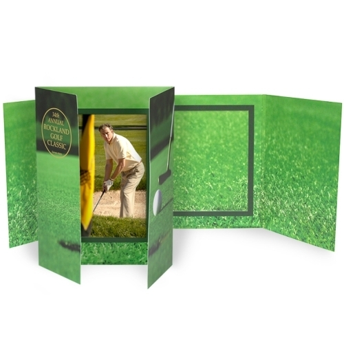 Vertical Golf Gatefold Event Folder (4