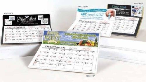 Pike 4-Color Desk Calendar
