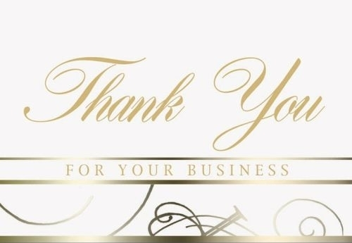 White Thank You For Your Business Everyday Blank Note Card (3 1/2