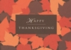 Happy Thanksgiving Leaves Greeting Card (5