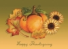 Thanksgiving Pumpkin and Leaves Holiday Greeting Card (5