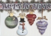 Hanging Ornaments Holiday Greeting Card - Classic (5