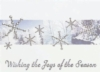 Silver Snowflakes in Forest Holiday Greeting Card - Classic (5