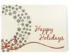 Happy Holidays Wreath Cream & Gold Holiday Greeting Card (5