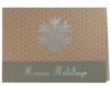 Happy Holidays Snowflake Green & Silver Holiday Greeting Card (5