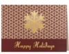 Happy Holidays Snowflake Burgundy & Gold Holiday Greeting Card (5