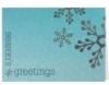 Season's Greetings Blue & Silver Holiday Greeting Card (5