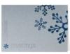 Season's Greetings Silver & Blue Holiday Greeting Card (5