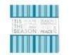 'Tis The Season Blue & Silver Holiday Greeting Card (5 3/4