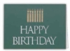 Happy Birthday Candles Everyday Blank Note Card (3 1/2