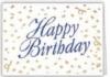 Happy Birthday Confetti Everyday Blank Note Card (3 1/2