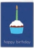 Happy Birthday Cupcake Everyday Blank Note Card (3 1/2