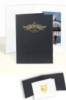 Black Vertical Portrait Folder (8 1/2