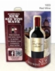 Red Wine 3-D Wave Table Tent