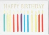 Happy Birthday Candles Everyday Greeting Card (5