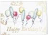 White Happy Birthday Balloons Everyday Greeting Card (5