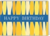 Blue Happy Birthday w/ Yellow Candles Everyday Greeting Card (5
