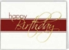 White & Red Happy Birthday Everyday Greeting Card (5
