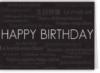 Horizontal Black Happy Birthday Everyday Greeting Card (5