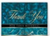 Blue Thank You For Your Referral Everyday Blank Note Card (3 1/2