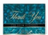 Blue Thank You For Your Business Everyday Blank Note Card (3 1/2