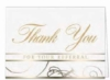 White Thank You For Your Referral Everyday Blank Note Card (3 1/2