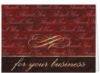 Red Thank You For Your Business Everyday Blank Note Card (3 1/2