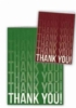 Red Thank You Everyday Blank Note Card (3 1/2