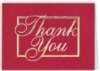 Red & Gold Thank You Everyday Blank Note Card (3 1/2