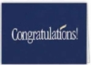 Blue Congratulations Everyday Note Card (3 1/2