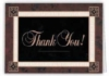 Brown Border Thank You Everyday Blank Note Card (3 1/2