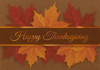 Thanksgiving Autumn Leaves Greeting Card (5