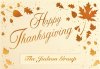 Scattered Thanksgiving Leaves Greeting Card (5