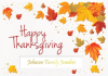 Bright Thanksgiving Leaves Greeting Card (5