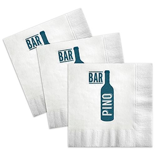 2-Ply, White, Beverage Napkin w/Coin Edge Emboss - QUICK SHIP
