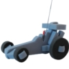 Dragster Racing Car on a leash