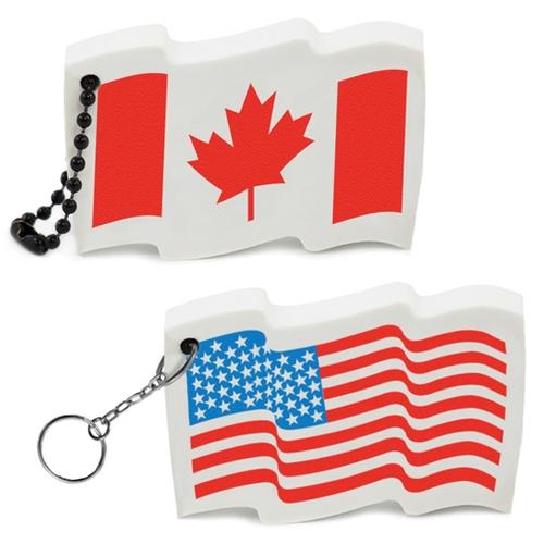 Flag Floating Key Tag