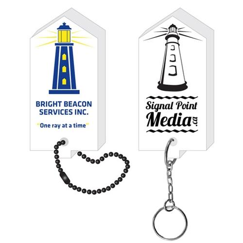 Lighthouse Floating Key Tag