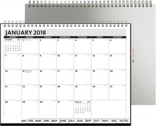 President Monthly Planner - Alloy Front / Chip Back
