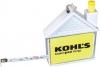 House Shape Measuring Tape W/ Pad & Pen Keychain