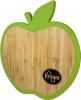 Apple Bamboo Trivet W/ Silicone Edge