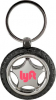 Rubber/ Metal Tire Keychain