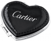 Heart Compact Mirror In Soft Pu Leather