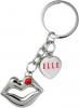 Metal Lips Jewelry Keychain