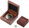 Mahogany Wood Box Desk Compass